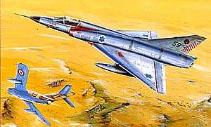 Boxart from Mirage IIIC kit by AML of Czech Republic