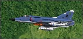 Mirage IIIEBR by Denis and Daniel da Silva Oliveira. Weapons and CFS2 mods by Chuck Dyer. Click to go to download page.